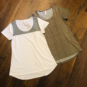 EUC Lot of Two XXS LuLaRoe Classic T Shirts